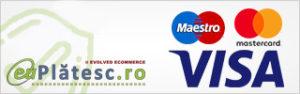 Online cu card bancar prin EuPlatesc (Visa/Maestro/Mastercard).